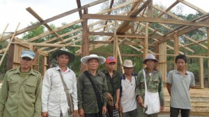 The local villagers worked hard to complete the house before rain season...all free of charge.