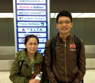 Thoummy and Manixia departing for USA